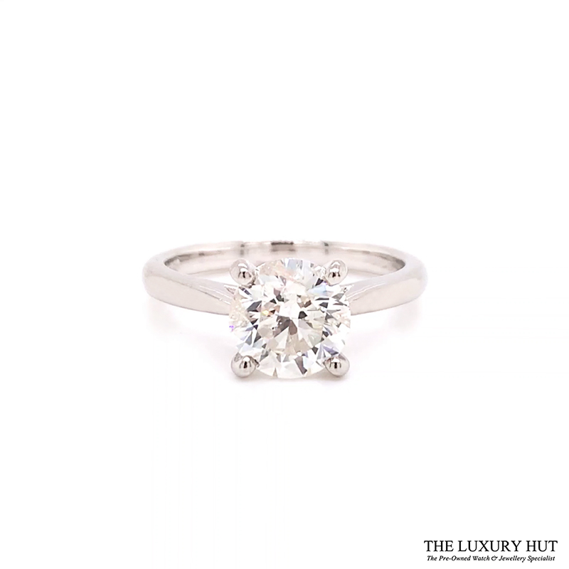 Platinum 1.80ct Brilliant Cut Diamond Solitaire Engagement Ring Order Online Today For Next Day Delivery - Sell Your Diamond Ring To The Luxury Hut London