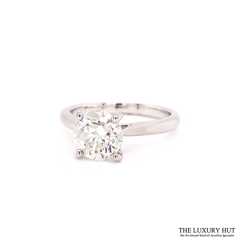 Platinum 1.80ct Brilliant Cut Diamond Solitaire Engagement Ring Order Online Today For Next Day Delivery - Sell Your Diamond Ring To The Luxury Hut