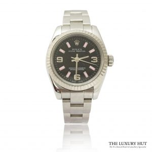 Rolex Black Dial Oyster Perpetual Steel Watch - Order Online Today