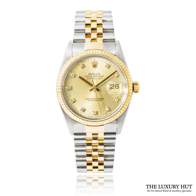 Rolex Steel & Gold Diamond Dial DateJust Watch Ref 16233 Order Online Today For Next Day Delivery