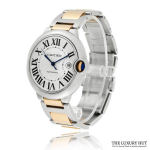 Shop Cartier Ballon Bleu 42mm Silver Dial W69009Z3 – 2015 - Order Online Today For Next Day