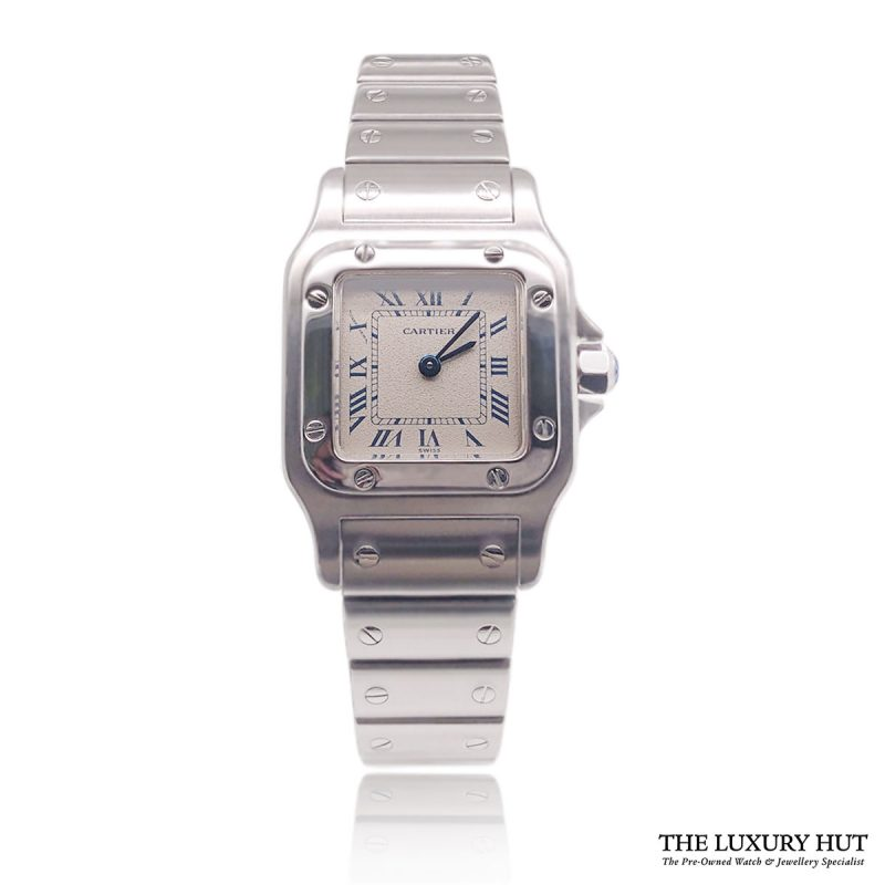 Shop Cartier Santos Galbee 9057930 Steel - 1990 - Full Set - Order Online Today For Next Day Delivery