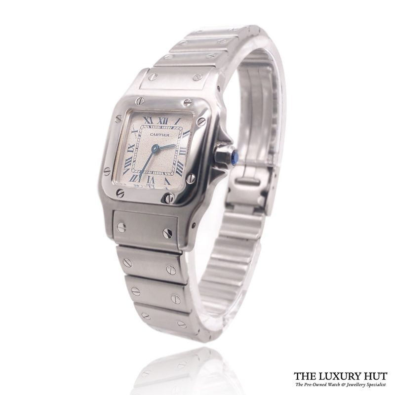 Shop Cartier Santos Galbee 9057930 Steel - 1990 - Full Set - Order Online Today For Next Day