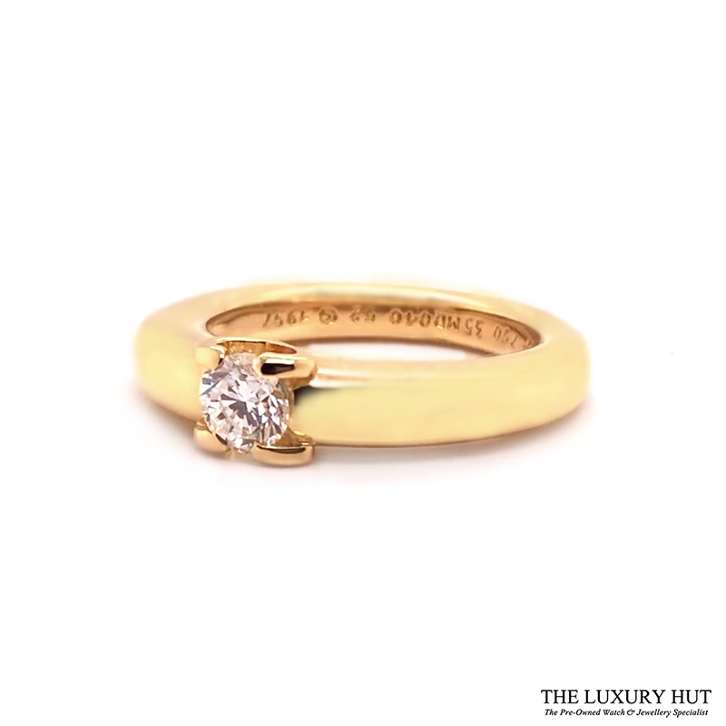 18ct Yellow Gold 0.40ct Solitaire Diamond Ring Order Online Today For Next Day