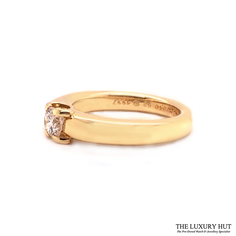 18ct Yellow Gold 0.40ct Solitaire Diamond Ring Order Online Today For Next