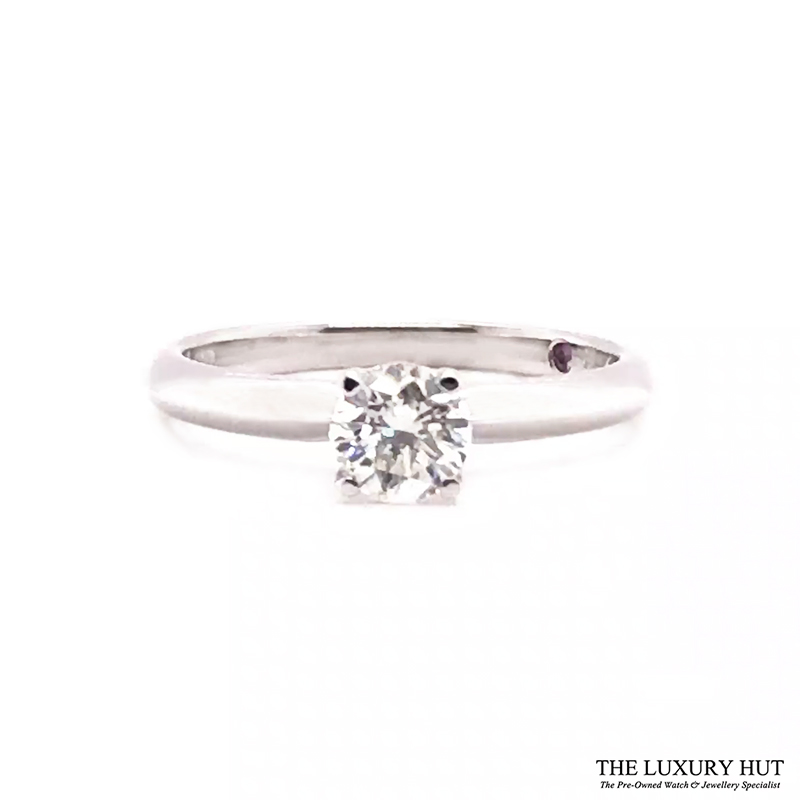 18ct White Gold 0.51ct Diamond Solitaire Engagement Ring Order Online Today For Next Day Delivery