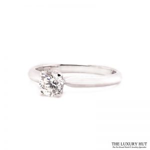 18ct White Gold 0.51ct Diamond Solitaire Engagement Ring Order Online Today For Next Day