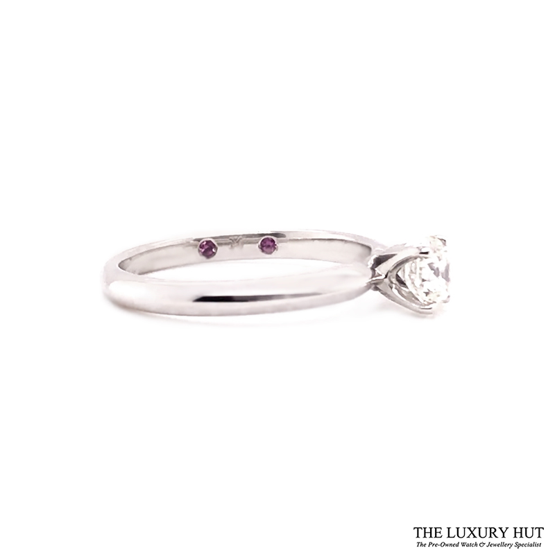 18ct White Gold 0.51ct Diamond Solitaire Engagement Ring Order Online