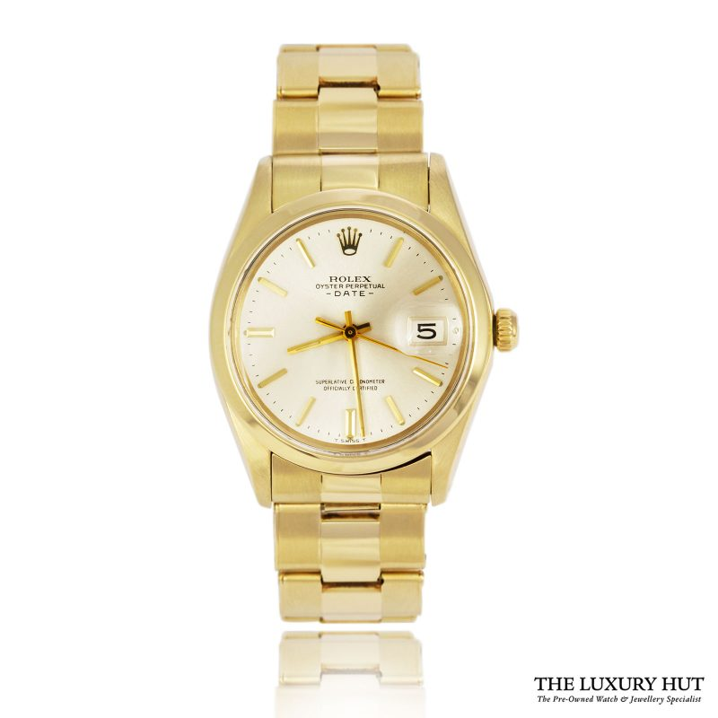 Rolex Rare Vintage 14ct Gold Oyster Perpetual Date Watch Ref 1500 Order Online Today For Next Day Delivery