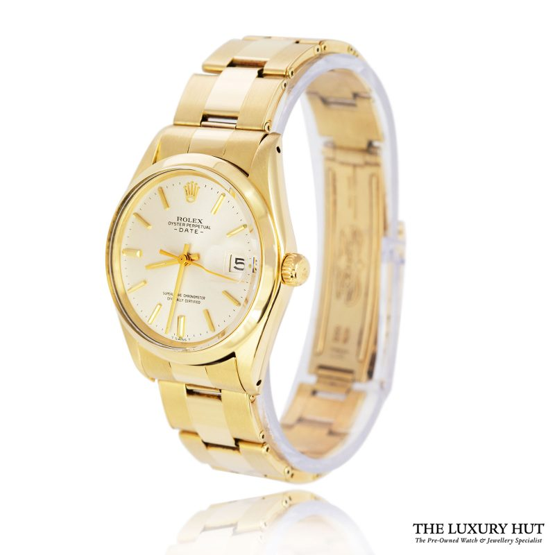 Rolex Rare Vintage 14ct Gold Oyster Perpetual Date Watch Ref 1500 Order Online Today For Next Day
