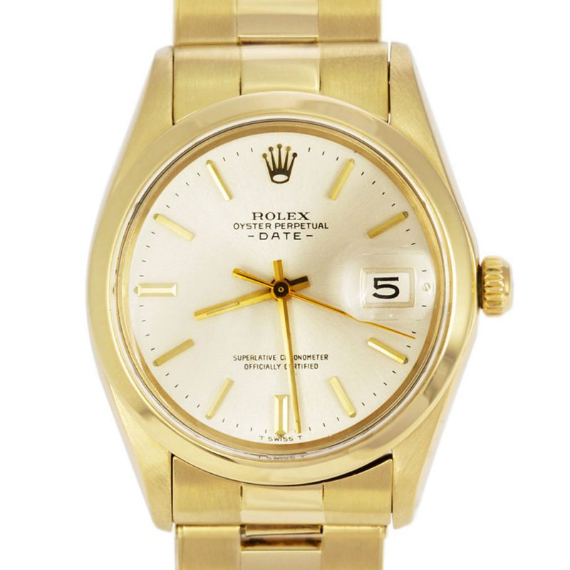Rolex Rare Vintage 14ct Gold Oyster Perpetual Date Watch Ref 1500 Order Online