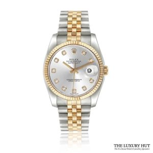ROLEX DATEJUST SILVER DIAMOND DIAL REF: 116233 Order Online Today For Next Day Delivery