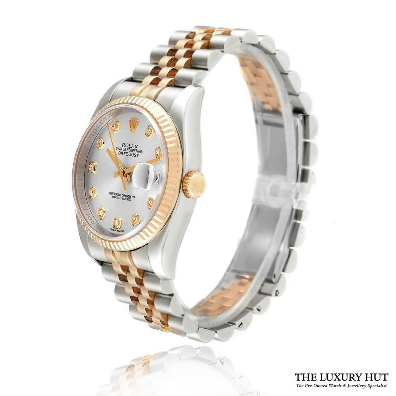 ROLEX DATEJUST SILVER DIAMOND DIAL REF: 116233 Order Online Today For Next Day