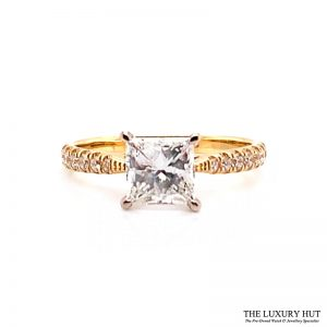18ct Gold GIA Certified 1.4ct Princess Cut Diamond Ring - Order Online Today For Next Day Delivery