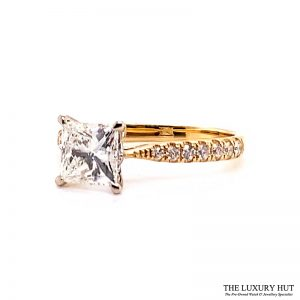 18ct Gold GIA Certified 1.4ct Princess Cut Diamond Ring - Order Online Today For Next Day