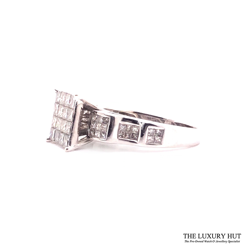 14ct White Gold & 2.90ct Diamond Certified Cluster Ring - Order Online Today