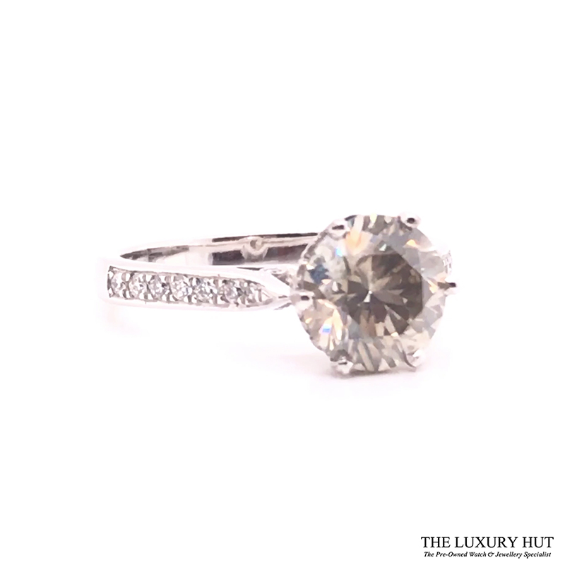 18ct White Gold & 2.5ct Diamond Solitaire Engagement Ring - Order