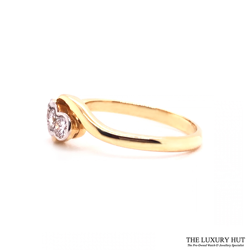 18ct White & Yellow Gold 0.45ct Diamond Trilogy Ring - Order Online Today