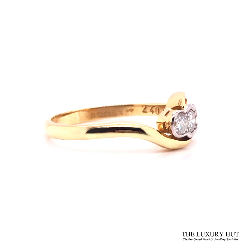18ct White & Yellow Gold 0.45ct Diamond Trilogy Ring - Order