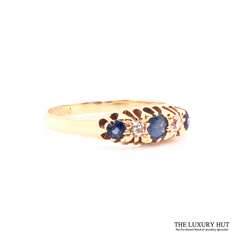 Antique 18ct Yellow Gold Sapphire & Diamond Ring - Order