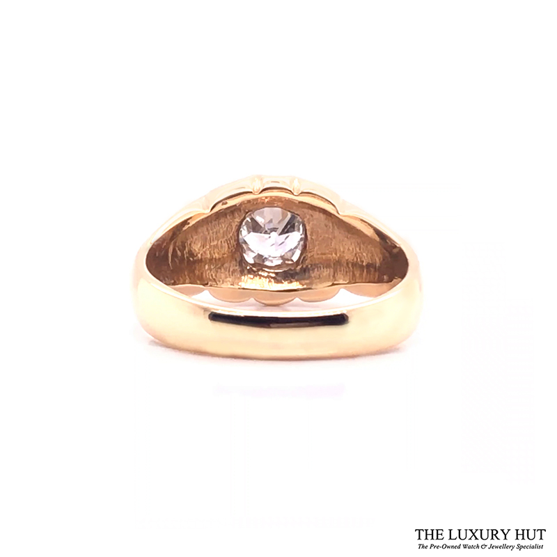 9ct Yellow Gold Pinky Diamond Certified Vintage Ring - Order Online Today