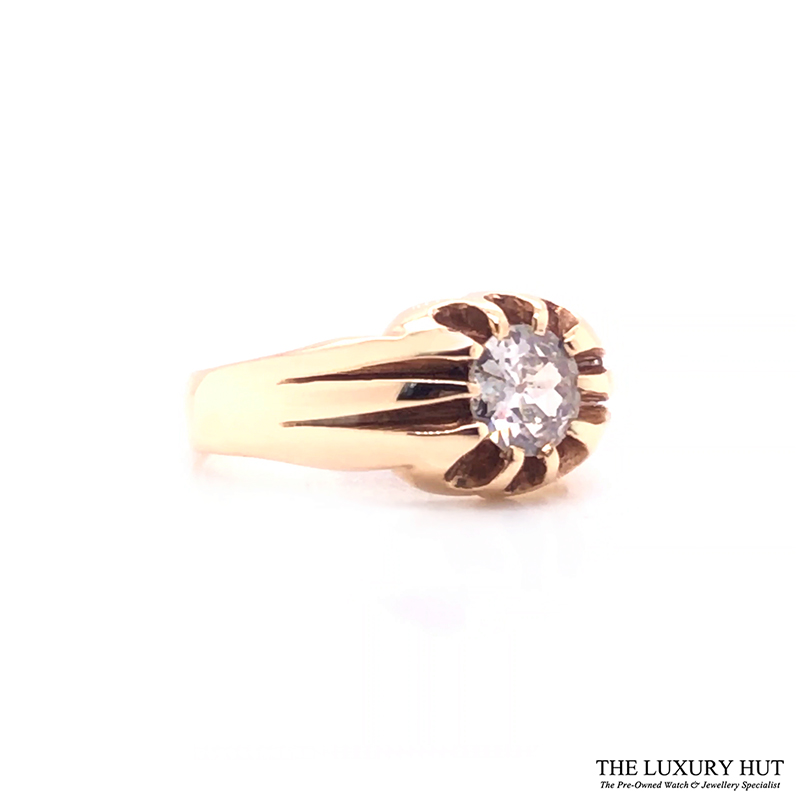 9ct Yellow Gold Pinky Diamond Certified Vintage Ring - Order Online
