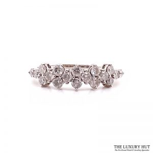 9ct White Gold 1.00ct Diamond Certified Dress Ring - Order Online Today For Next Day Delivery