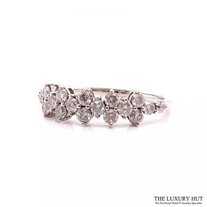 9ct White Gold 1.00ct Diamond Certified Dress Ring - Order Online Today For Next Day