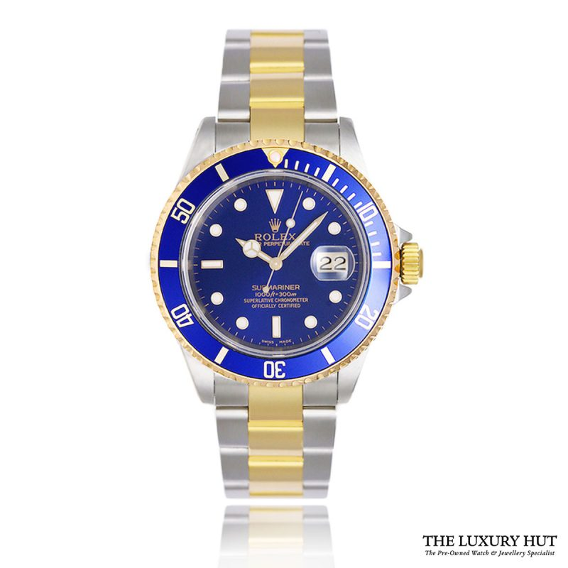 Rolex Submariner Bi-Metal 40mm Blue Dial Ref: 16613 - Order Online Today For Next Day Delivery