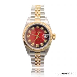 Rolex Lady Datejust Bi-Metal 26mm Red Diamond Dial 69173 - Order Online Today For Next Day Delivery