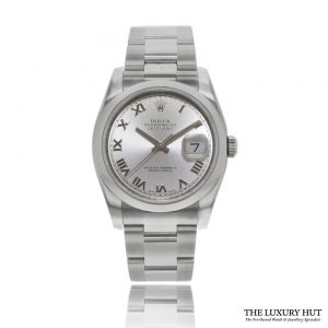 Rolex Datejust 116200 Steel 36mm Silver Roman Dial 2011 - Order Online Today For Next Day Delivery