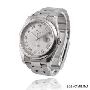 Rolex Datejust 116200 Steel 36mm Silver Roman Dial 2011 - Order Online Today For Next Day