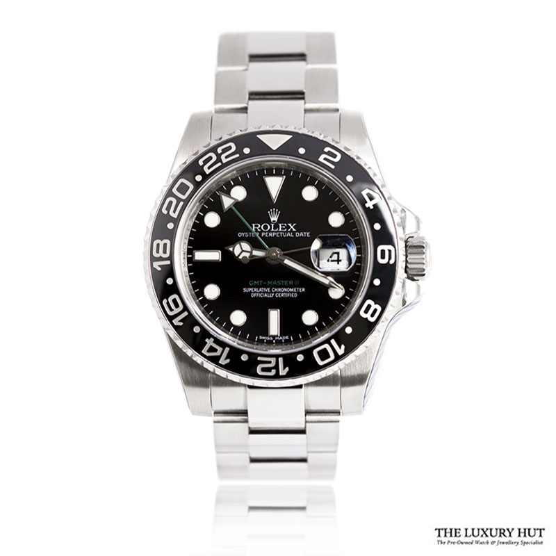 Rolex GMT Master II Ref: 116710LN Steel 40mm Black Dial - Order Online Today For Next Day Delivery