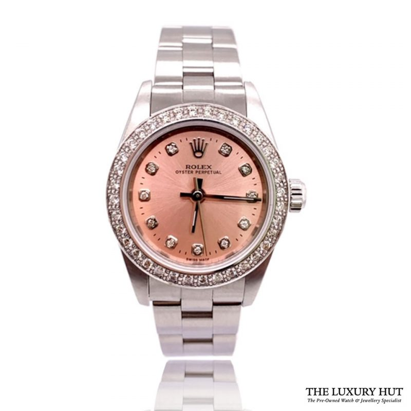 Rolex Lady Oyster Perpetual 25mm Pink Diamond Dial 76030 - Order Online Today For Next Day Delivery