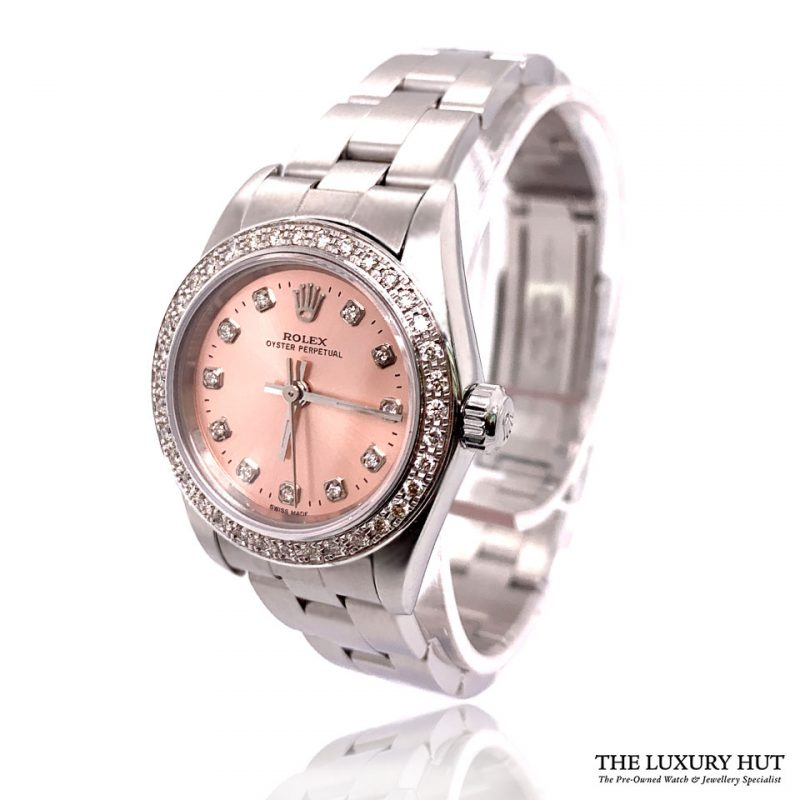 Rolex Lady Oyster Perpetual 25mm Pink Diamond Dial 76030 - Order Online Today