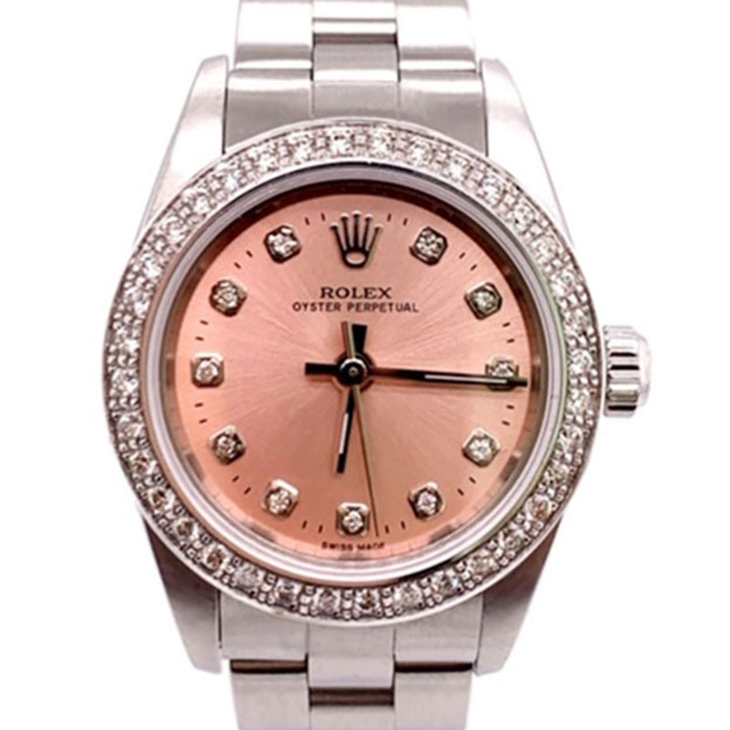 Rolex Lady Oyster Perpetual 25mm Pink Diamond Dial 76030 - Order Online