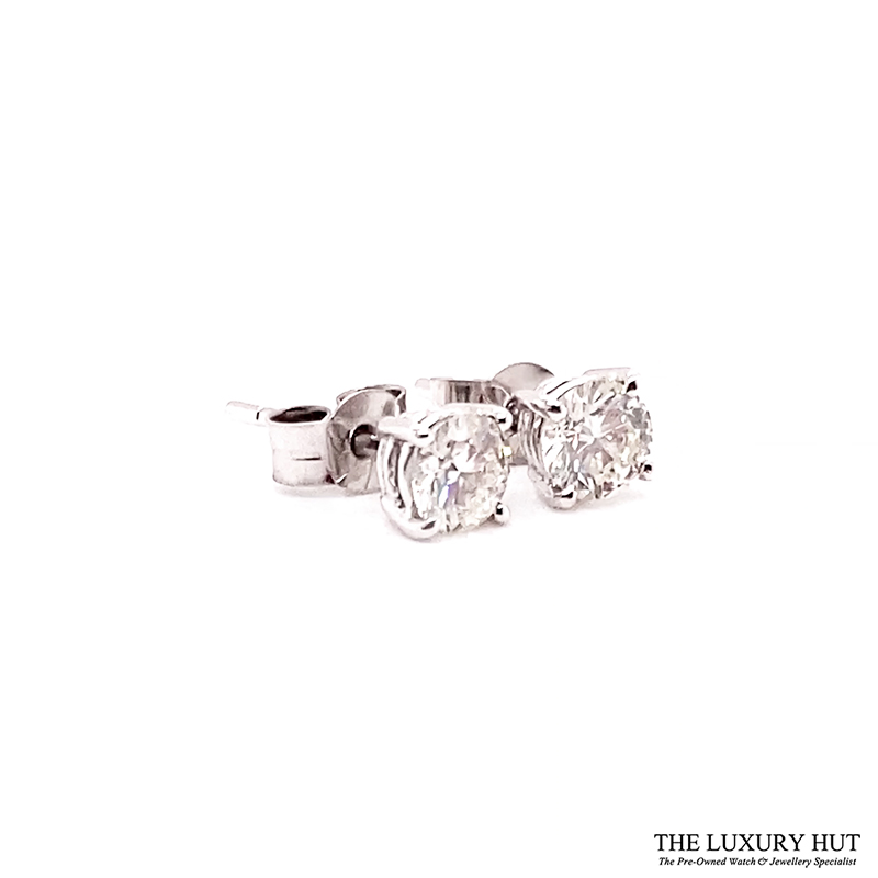 18ct White Gold 0.80ct Diamond WGI Certified Earrings