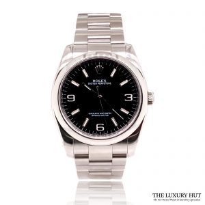 Rolex Oyster Perpetual Steel 36mm Black Dial Full Set - 2008 - Order Online Today For Next Day Delivery