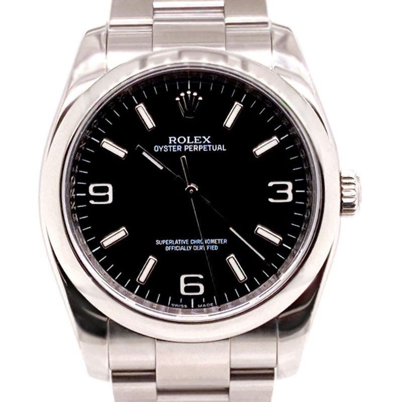 Rolex Oyster Perpetual Steel 36mm Black Dial Full Set - 2008 - Order Online