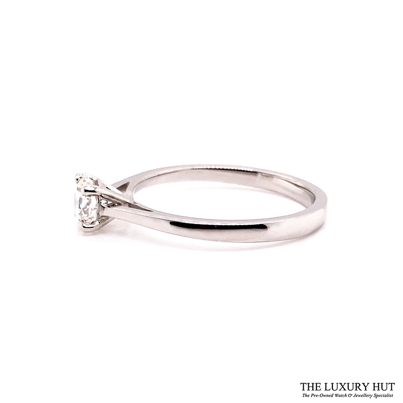 Platinum Certified 0.52ct Solitaire Engagement Ring Ref 14722 Order Online Today