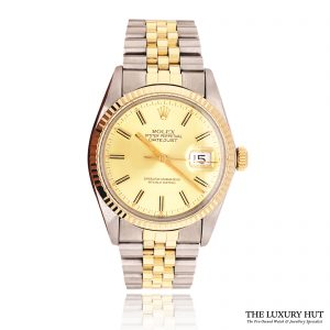Rolex Datejust Bi-Metal 36mm Champagne Dial Ref: 16013 - Rolex - Order Online Today For Next Day Delivery