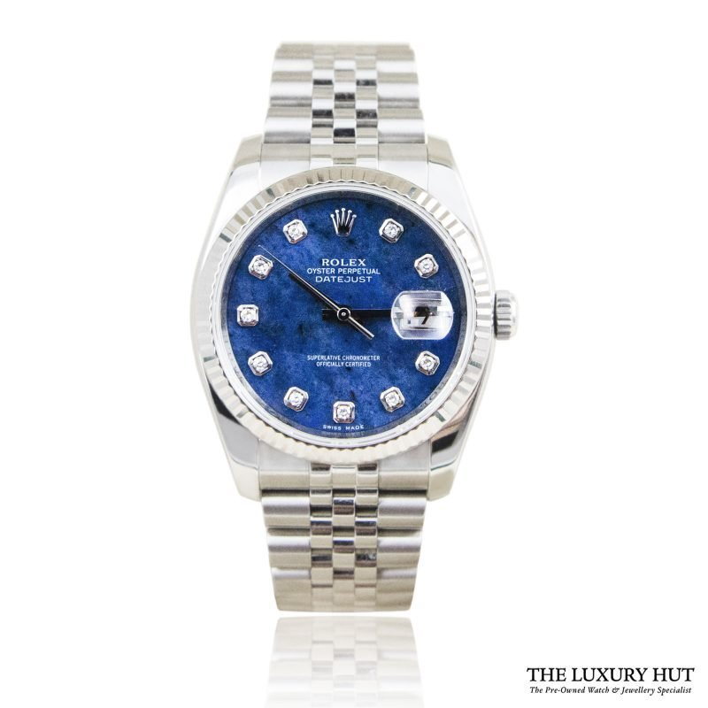 Rolex Datejust 36mm Diamond Sodalite Dial Ref:116234 - 2011 - Order Online Today For Next Day Delivery