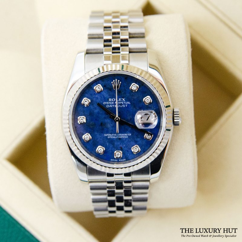 Rolex Datejust 36mm Diamond Sodalite Dial Ref:116234 - 2011 - Order Online Today Delivery
