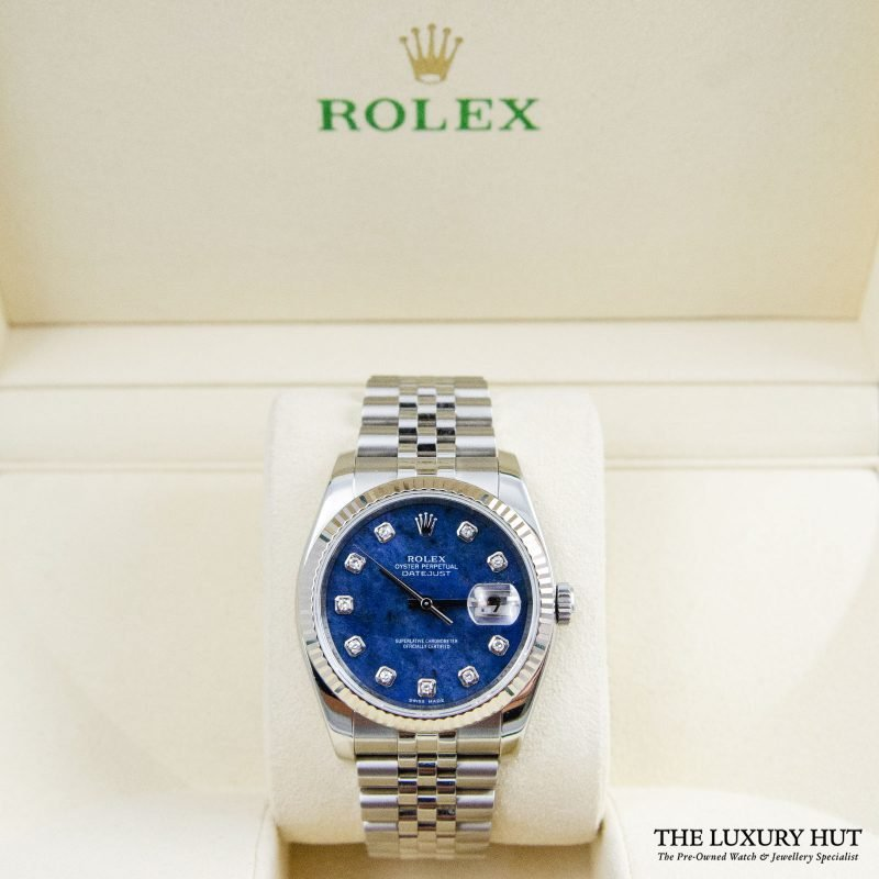 Rolex Datejust 36mm Diamond Sodalite Dial Ref:116234 - 2011