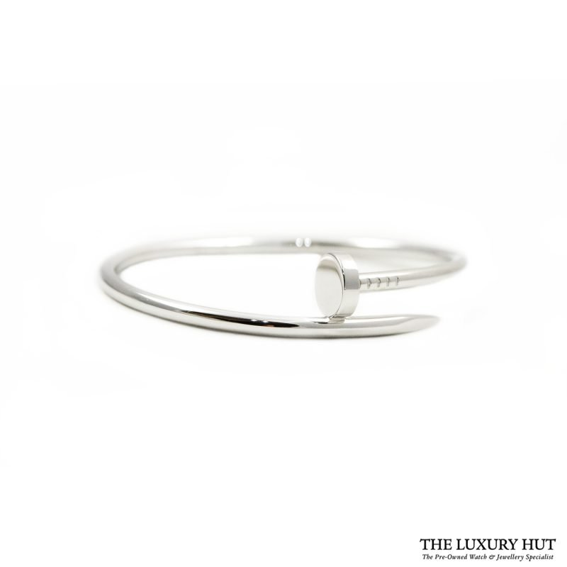 Shop Cartier Juste Un Clou 18ct White Gold Bangle - Order Online Today For Next Day