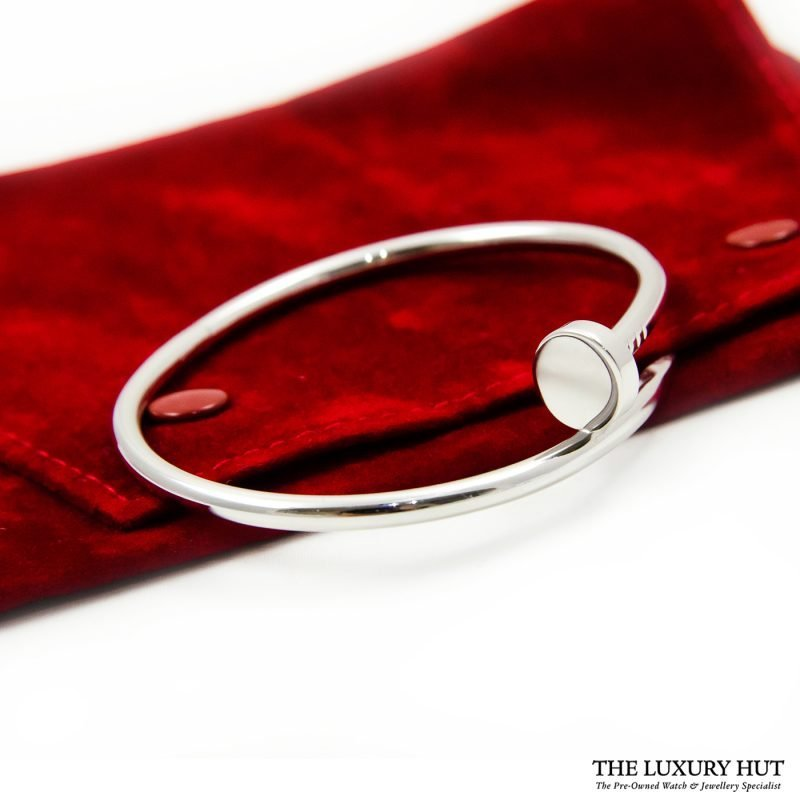 Shop Cartier Juste Un Clou 18ct White Gold Bangle - Order Online Today Delivery