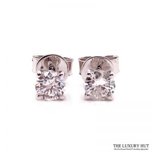 Shop 18ct White Gold 0.60ct Diamond Earrings - Order Online Today For Next Day Delivery
