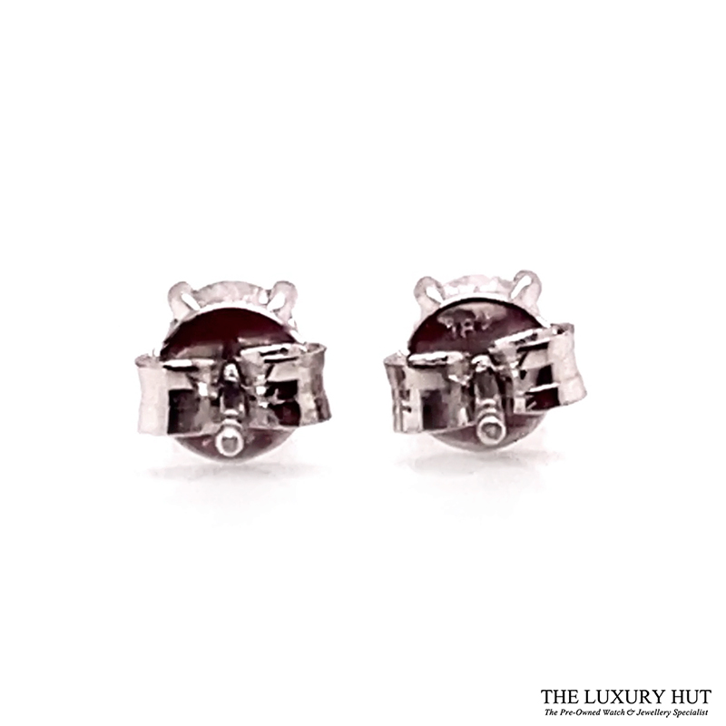 Shop 18ct White Gold 0.60ct Diamond Earrings - Order Online