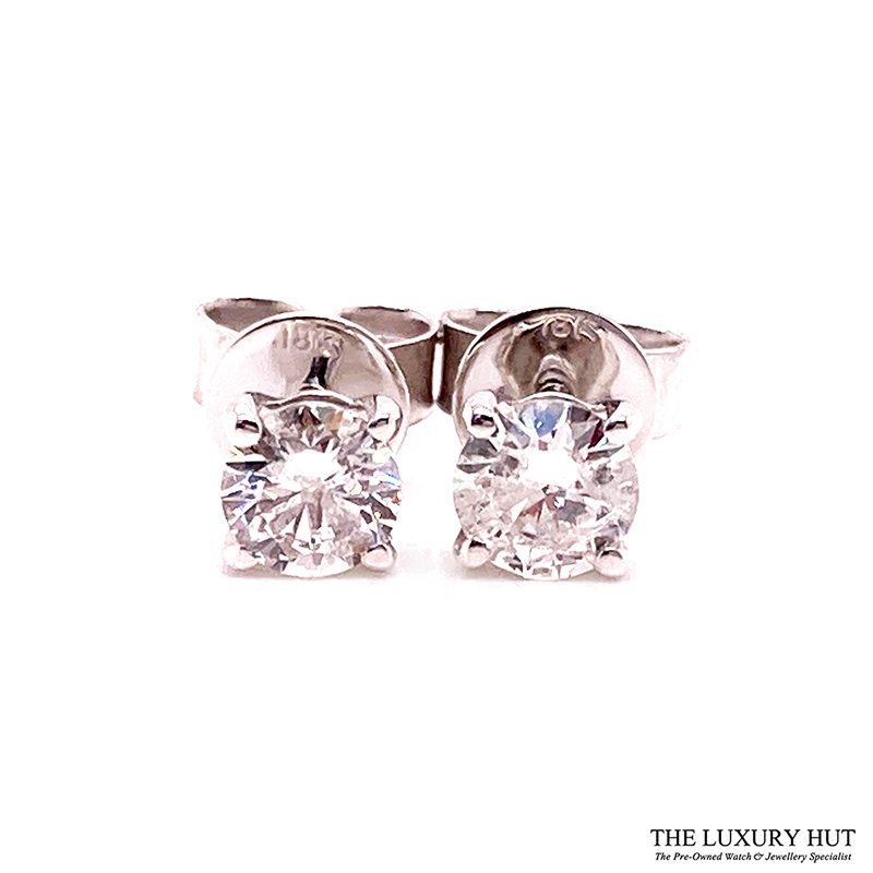 Shop 18ct White Gold 0.75ct Diamond Earrings - Order Online Today For Next Day Delivery