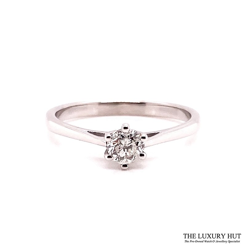 9ct White Gold 0.30ct Diamond Solitaire Ring Ref: 26183 Order Online Today For Next Day Delivery